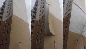 Z domu silný vítr odfoukl zeď: Jako kdyby byla z papíru
