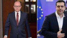 Sobotka: Řecku musíme pomáhat. Tsipras: Češi, i vás čekají sankce