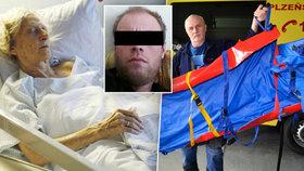 Vyhublá na kost trpěla ve vlastních výkalech: Utýranou seniorku museli odvézt ve speciálním vaku