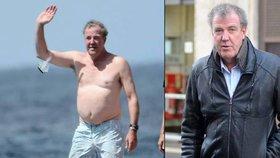 Clarkson z Top Gearu, jak ho neznáte: Na Barbadosu vystavil svůj pivní pupek