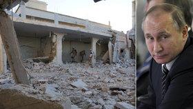 Bombardování bylo dost? Putin nařídil stáhnout ze Sýrie většinu vojáků