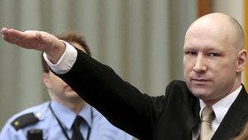 Breivik se vrátil před soud: Uvedl se nacistickým pozdravem