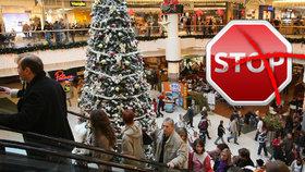 Kličky v zavírání obchodů o svátcích: Senát chce výjimku pro nákupní centra