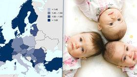 """Češky rodí jako o závod. Počtem miminek """"zválcovaly"""" zbytek Evropy"""