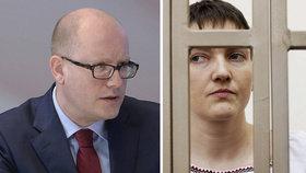 Sobotka: Ať se EU postaví za hladovějící pilotku. Senát kývnul