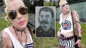 Stalinova vnučka je drsňačka: Ujíždí na tetováních a piercinzích