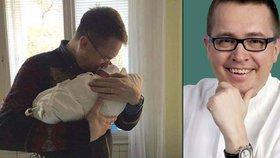 Hrdý otec Roman Šmucler: První foto s novorozeným synem Karlem Josefem!
