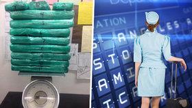 """Letuška vezla 31 kilo kokainu. Když ji """"vyhmátla"""" kontrola, bosá utekla"""