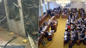 Sněmovna začala minutou ticha za oběti v Bruselu. V Česku bude nasazena i armáda