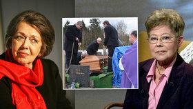 Dělily se o jednoho muže, teď leží vedle sebe: Čuříkovou pochovali u Jiráskové!