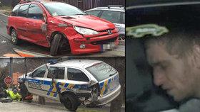 Feťák za volantem ujížděl policii: Zastavil ho až zátaras