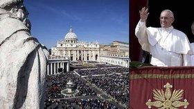 Papež pronesl velikonoční poselství a požehnání. Zastal se uprchlíků v Evropě