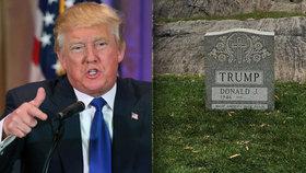 Vrať se do hrobu, Trumpe! V Central Parku se objevil náhrobek prezidentského kandidáta