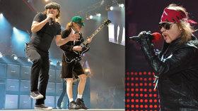 Nemocného frontmana AC/DC nahradí Axl Rose z Guns N' Roses
