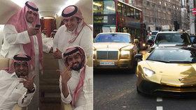 Okázalý arabský miliardář si žije jako král! Na dovolenou si bere lamborghini, doma ho hlídá policie