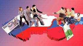 Češi vs. Slováci: Ekonomický souboj! Kdo si víc vydělá a kdo si víc koupí?