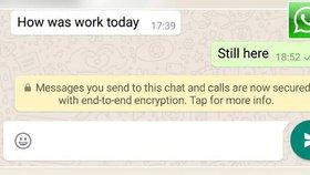 WhatsApp zvyšuje bezpečnost: Zprávy začal šifrovat