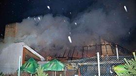 Na Mělnicku vyhořela restaurace za 10 milionů: Zapálili to schválně, říká majitel