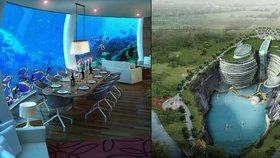Unikátní luxusní hotel v Číně: Nejlepší apartmány budou pod vodou!