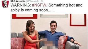 Žena sahá na mužově klíně na něco žhavého a ostrého. KFC má průšvih kvůli reklamě