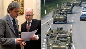 Vláda bude jednat o americkém konvoji. Armáda má v plánu dalších 115 cvičení