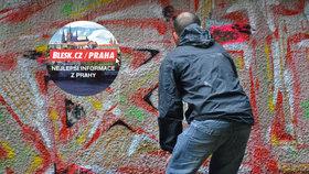 Barrandovský most změnil vizáž: Přestříkalo ho několik desítek sprejerů