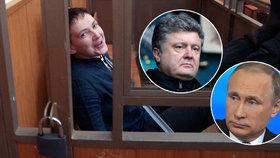 Putin si telefonoval s Porošenkem. Řešili osud odsouzené pilotky Savčenkové