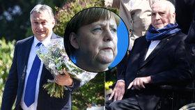 Orbán navštívil s kyticí Helmuta Kohla: Spikli se proti běžencům a Merkelové?