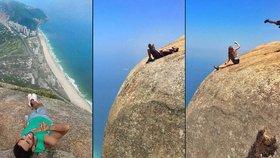 Nejnebezpečnější místo pro selfíčka na světě? Turisté se v Brazílii věší ze skály