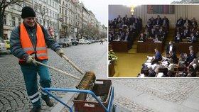 Za zametání chodníků vyšší podpora: Novinka pro nezaměstnané je o krok blíž
