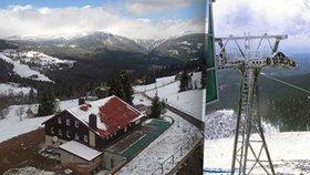 Aprílové počasí: Na Šumavě a v Krkonoších sněžilo. Vítr zastavil lanovku