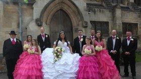 Moje velká, tlustá romská svatba: Nevěsta vypadala jako obří sněhová pusinka!
