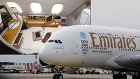 Obr přistál v Praze. Airbus A380 bude pravidelně létat do Dubaje
