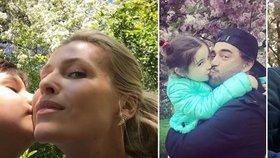 Prvomájové polibky slavných: Kdy musely za chybějící drahé polovičky zaskočit děti?
