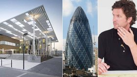 """Vymýšlel londýnskou """"Okurku"""", teď staví v Praze: Stvořil tu i moderní laserové centrum"""