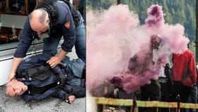 Napětí v Brenneru roste. Italové se kameny bijí proti uprchlickému plotu