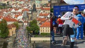 Doběhl mezi posledními: Číňan pražský maraton běžel bez bot