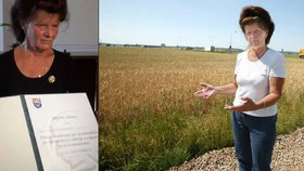 Farmářka Havránková na vládě převzala metál pro tátu. Boje kolem D11 nelituje