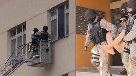 Muž chtěl vyskočit z okna: Z bytu ho vynesla zásahovka