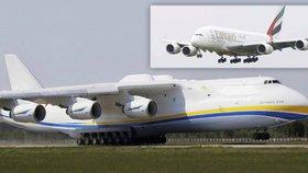 """Antonov An-225 a Airbus A380 čeká """"rande"""" v Praze. Je to světový unikát"""