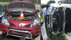 Senior bez zdravotní prohlídky »rozstřelil« na dálnici dvě svá auta: Během pěti hodin!