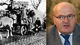 Herman míří na sjezd sudetských Němců. Jako první český ministr