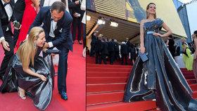 Němcovou v Cannes zradila róba: Topmodelka se »rozplácla« na červeném koberci