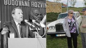 """Jakeš prodal vilu za 45 milionů, teď obdivuje Rolls-Royce: Komunistický boss se nadchl pro """"západní"""" luxus"""