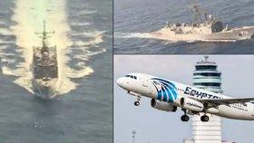 Pátrání po zříceném letu MS804 ONLINE: Armáda našla trosky i zavazadla cestujících