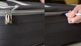 Kufr si po tomto videu už nezamknete, zloději ho otevřou pomocí jednoduchého fíglu