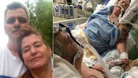 Srdceryvné foto: Umírající muž se naposledy rozloučil s manželkou, která byla v bezvědomí