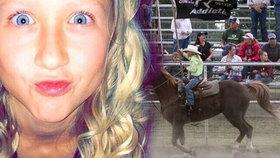 Kůň dostal infarkt a rozdrtil dívku (†12), která na něm jela