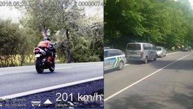 Zdrogovaný motorkář ujížděl policii rychlostí 200 km/h! Při pronásledování došlo i na střelbu