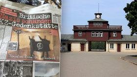 Náckové hajlovali v koncentračním táboře Buchenwald a fotili se při tom